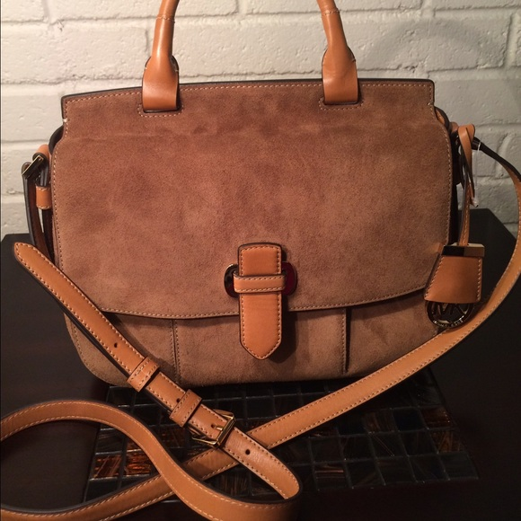 0f8f0bc846915f Michael Kors Bags | Suede Leather Romy Crossbody | Poshmark