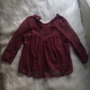 🚫SOLD🚫 free people lace top