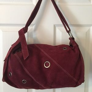 Marc Jacobs Handbags - 🛍 Marc Jacobs Maroon Suede Cut Out Leather Bag