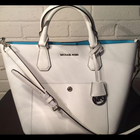 100f708bb745 Michael Kors Bags   Optic White Greenwich Satchel Handbag   Poshmark
