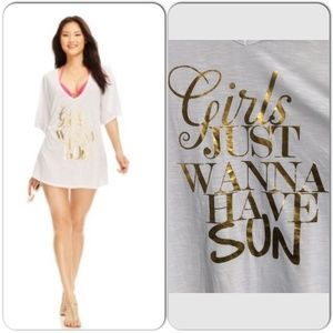 "Miken Other - Ultra Soft ""Girls Just Wanna Have Sun"" Beach Tee"