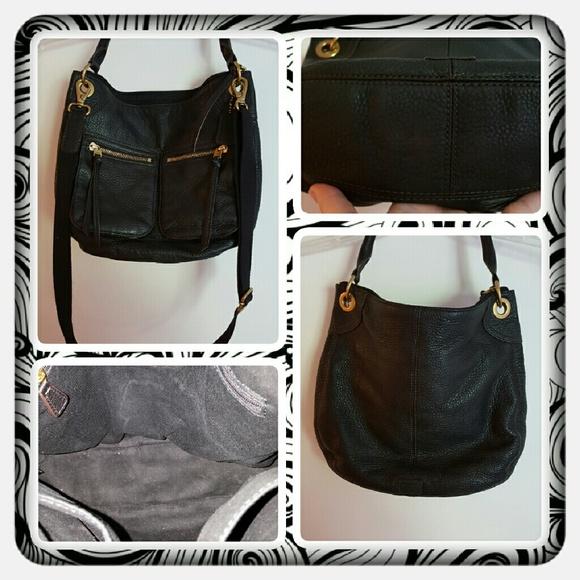 0c4b88f68d0d Fossil Handbags - 👜 EUC Genuine Leather Black Fossil Karli Hobo 👜