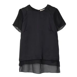 REBECCA TAYLOR Black Silk Top