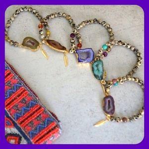 Function & Fringe Jewelry - 🎉2 Left! 🎉HP 12/6🎉Druzy Pendant  Bracelets!