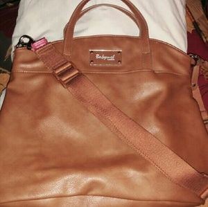 Babymel Handbags - Babymel brown leather diaper bag