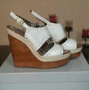 Jessica Simpson White Studded Geno Sandals 9