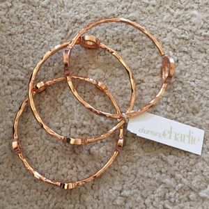 Charming Charlie Jewelry - Rose colored bangle bracelets