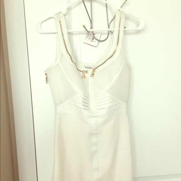 bebe Dresses & Skirts - Bebe zipper dress MAke an OFFER