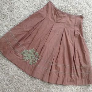 Odille  Dresses & Skirts - Final Price Odille Anthropologie Brown Skirt Sz 2