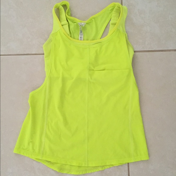 7b9ed4d3e0 lululemon athletica Tops - Neon Lululemon tank top w sports bra