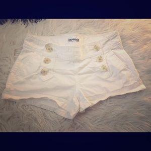 White Express Shorts - size 2