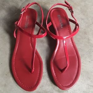 Red Soda Sandals