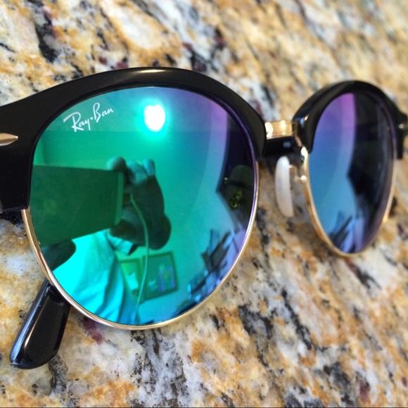 Ray-Ban Clubround Sunglasses w  Green Mirror Lens!  M 575c2c6d56b2d690950035fb 839a4c58d751