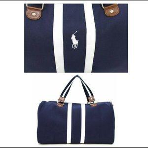 Polo by Ralph Lauren Bags - Polo Ralph Lauren blue white duffle bag