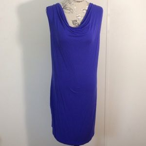 French Connection Purple/Blue Slouch Dress L