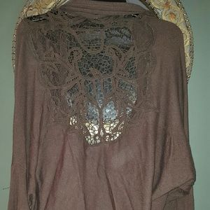 BCBGMaxAzria Tops - BCBG Max Azria Brown sweater shrug NWT