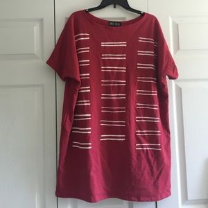 Urban Outfitters Dresses & Skirts - Red short sleeve sweatshirt dress