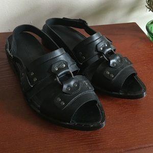 Rachel Comey Shoes - Black leather Rachel Comey sandals