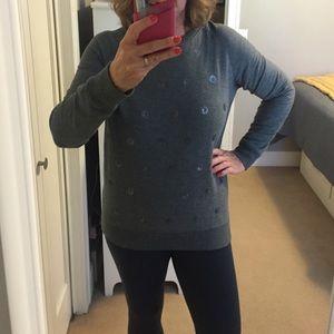 Kersh Tops - Kersh Grey Dressy Sweatshirt