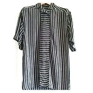 Jimmy Garcia Tops - Gorgeous vintage striped button-down tunic, size M