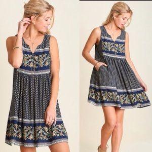 Umgee Dresses & Skirts - ☀️SALE☀️ Floral BorderPrint/Lace BohoDress