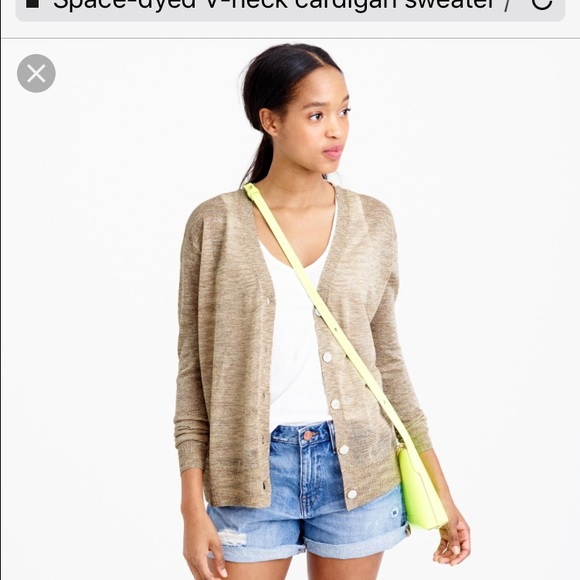 76% off J. Crew Sweaters - Space-dyed V-neck cardigan sweater ...