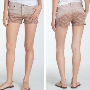 Zuma Sand Cross Print ombré shorts