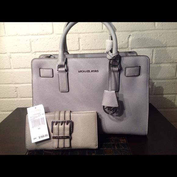 eab454aeedbd Michael kors dove grey Dillon handbag medium