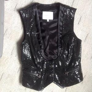 Balmain Jackets & Blazers - Pierre Balmain Leather Snakeskin Vest