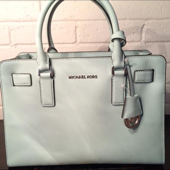 b7283261abefd2 Michael Kors Bags | Mint Celadon Dillon Satchel Medium | Poshmark