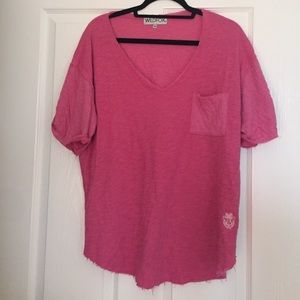 Wildfox Pink XS shirt with pocket.