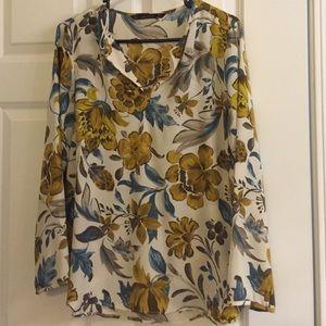 New Zara floral printed top