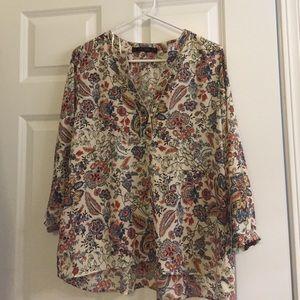 NWT Floral printed Zara top