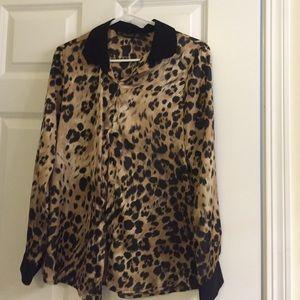 New Zara leopard printed top