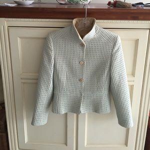 Louis Feraud pastel peplum jacket
