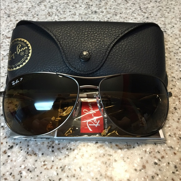 14463e0ce8 Ray Ban Polarized Aviator RB 3519 in Classic Brown.  M 575c614856b2d69095008c92
