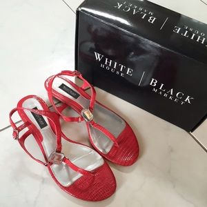 [White House Black Market] Red Sandals