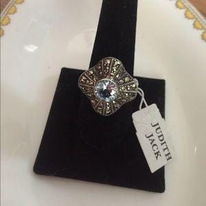 Judith Jack Jewelry - Judith Jack Blue Topaz 925 Marcasite Ring 🎉3XHP🎉