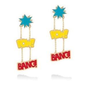 "nOir DC ""pow! bang!"" drop earrings"