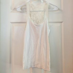 Forever 21 Tops - Forever 21 white tank w lace back