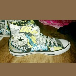 18cab6a073f2 Converse Shoes - CONVERSE Batman Comic Strip Chuck Taylors