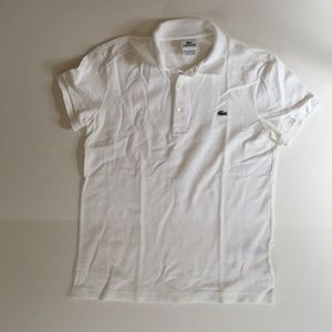 Lacoste Tops - Like NEW Lacoste polo shirt pique white size 3
