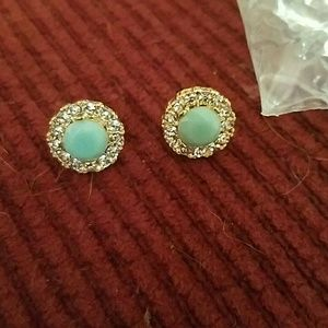 Jewelry - New crystal turquoise earrings