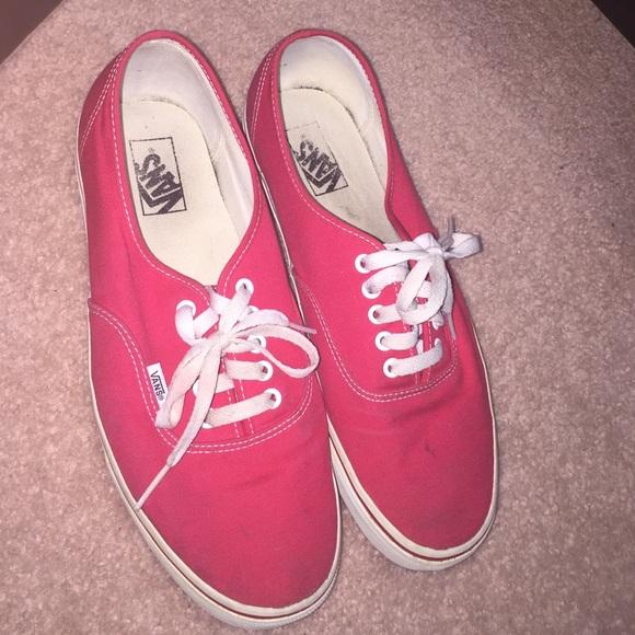 Vans Shoes | Authentic Red Vans Size 15