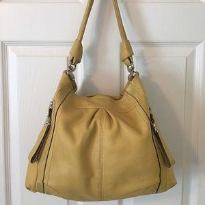 b. makowsky Handbags - 🛍 B. Makowsky Yellow Leather Shoulder Bag