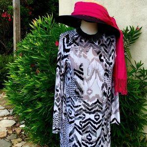 "Classic Woman Dresses & Skirts - ""Jessica"" Fabulous Modern Take on Aztec Knit Maxi"