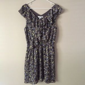 BCBGeneration dotted ruffle dress, size L