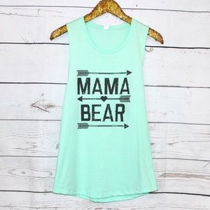 Mama Bear Mint Tank Top