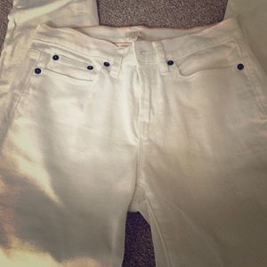 Like New White Stretch Jeans by J. Crew