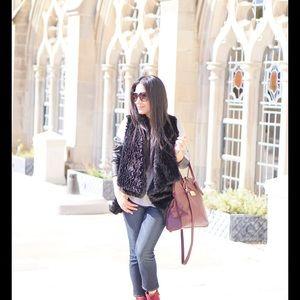 Handbags - Valentina burgundy leather tote